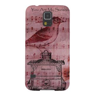 Vintage Hollyhock Song Bird Samsung Galaxy Nexus Case