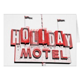 Vintage Hollywood Motel Sign Card