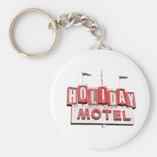 Vintage Hollywood Motel Sign Key Ring
