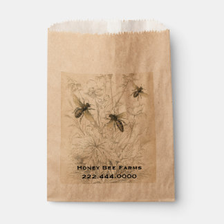 Vintage Honey Bees Business Food Bag Favour Bags