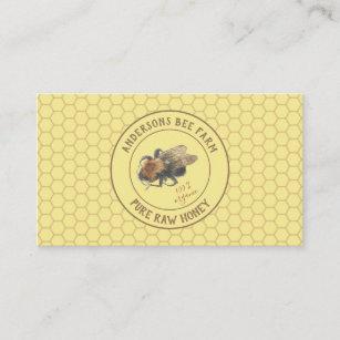 Vintage beekeeping business cards zazzle nz vintage honeybee honeycomb beefarm beekeeper business card reheart Choice Image