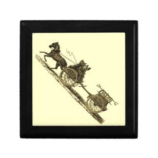 Vintage Horse Drawn Fire Engine Illustration Gift Box