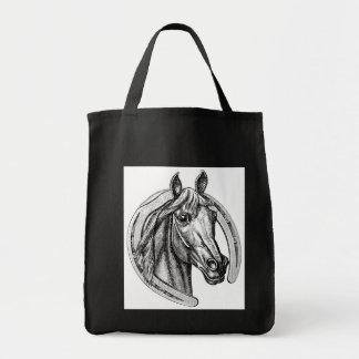 Vintage Horse & Horseshoe Tote Bag