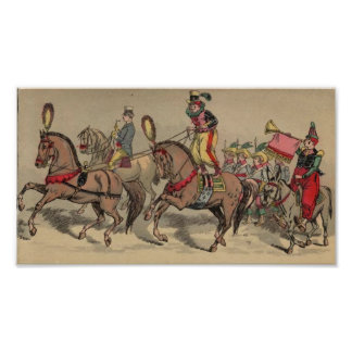Vintage Horses in a Circus 2 Posters