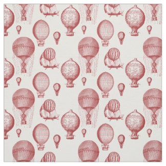 Vintage Hot Air Balloons in Brown Fabric
