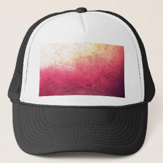 Vintage Hot Pink Grunge Floral Multicolor Pattern Trucker Hat