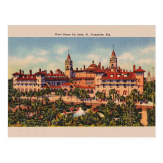 Vintage Hotel Ponce De Leon St. Augustine Postcard