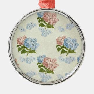 Vintage Hydrangea Floral Design Christmas Ornament