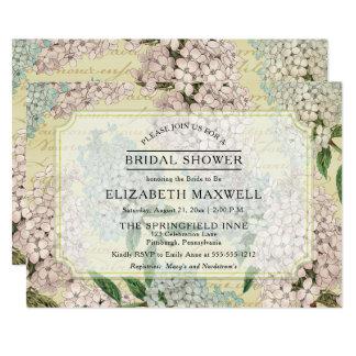 VIntage Hydrangeas   French Ephemera Bridal Shower Card