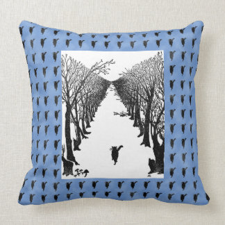 Vintage I Am The Cat Who Walks By Himself Art Cushion