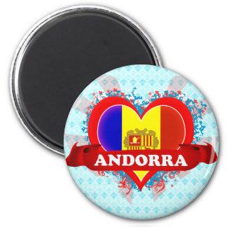Vintage I Love Andorra Magnet