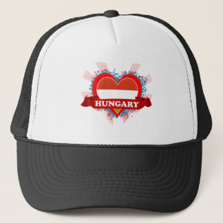 Vintage I Love Hungary Trucker Hat