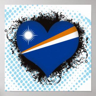Vintage I Love Marshall Islands Poster