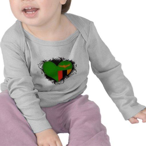 Vintage I Love Zambia Tee Shirts