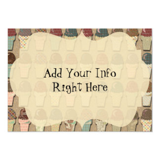 Vintage Ice Cream Social 13 Cm X 18 Cm Invitation Card
