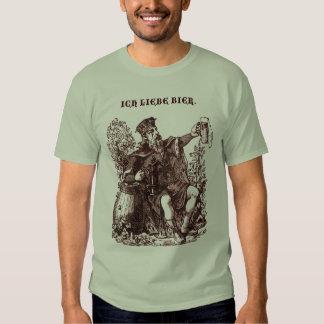 Vintage Ick Liebe Bier 'I love Beer' Beer Ale King Tee Shirts