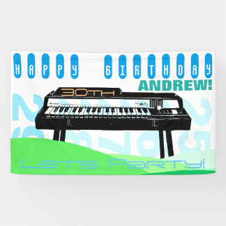 Vintage Illustration Organ 30th Birthday banner