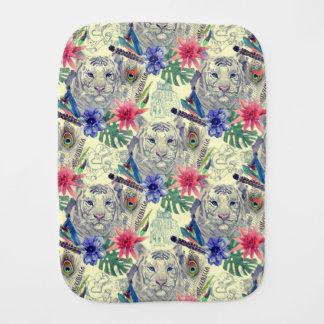Vintage Indian Style Tiger Pattern Burp Cloth