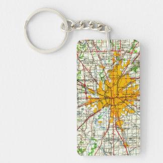 Vintage Indianapolis Map Key Ring