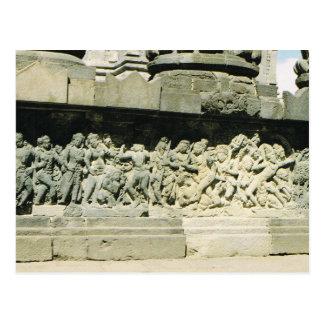 Vintage Indonesia Ramayana carving Prambanan Postcards
