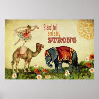 Vintage Inspirational Dancer Poster