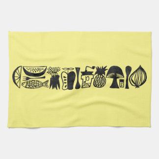 Vintage Inspired Mod Kitchen Tea Towels - Set of 3