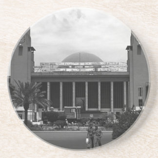 Vintage Iraq Baghdad central railway station 1970 Coaster