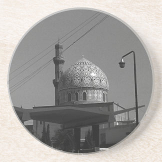 Vintage Iraq Baghdad Gas station at mosque 1970 Coaster