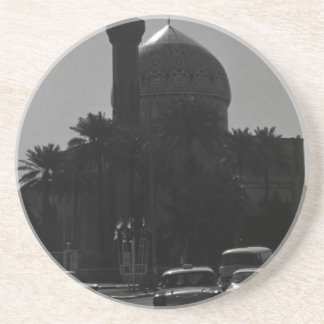 Vintage Iraq Baghdad mosque taxis 1970 Coaster