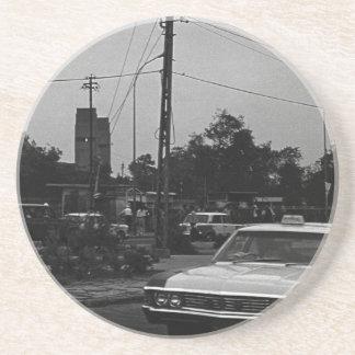 Vintage Iraq Baghdad street taxis 1970 Coaster