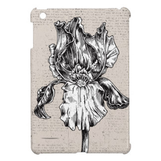 Vintage Iris Drawing Cover For The iPad Mini