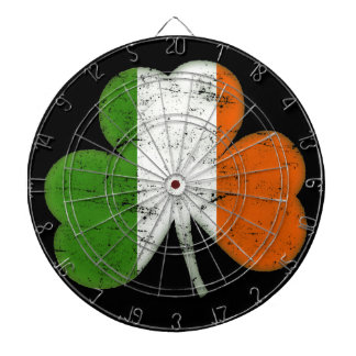 Vintage Irish Flag Shamrock Dartboard