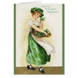 Vintage Irish Shamrock St. Patrick's Day Card
