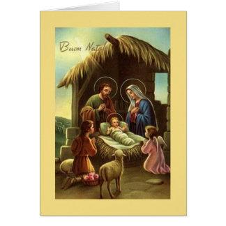 Vintage Italian Nativity Religious Christmas Card