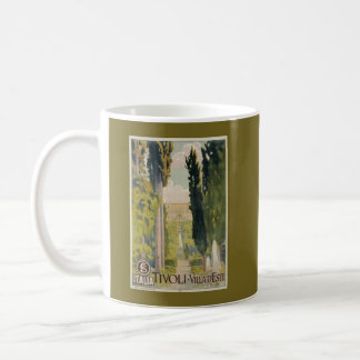 Vintage Italian travel ad Tivoli Lazio Rome Coffee Mug