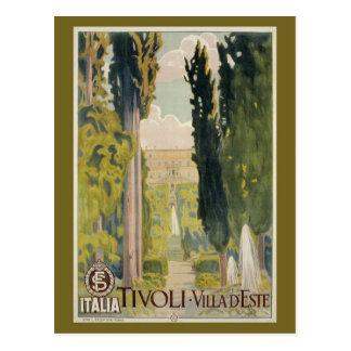Vintage Italian travel ad Tivoli Lazio Rome Postcard