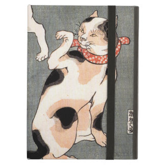 Vintage Japanese Cat Art Cover For iPad Air