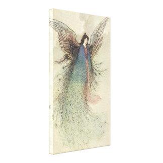 Vintage Japanese Fairy Tale, The Moon Maiden Canvas Print