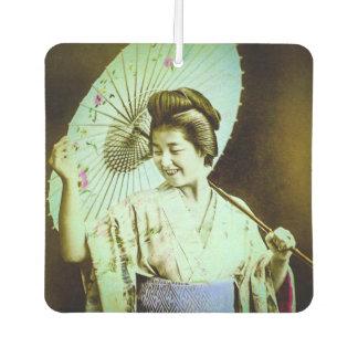 Vintage Japanese Geisha Posing Favorite Parasol