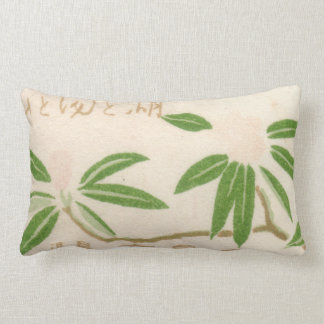 Vintage Japanese Matchbox Cover Lumbar Pillow