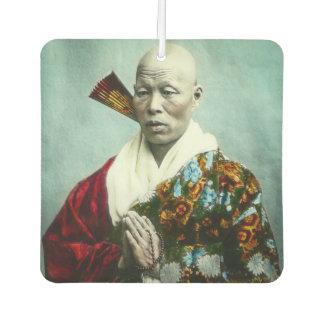 Vintage Japanese Shinto Priest Praying Old Japan Car Air Freshener