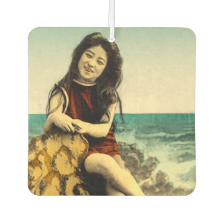 Vintage Japanese Swimsuit Bathing Beach Beauty