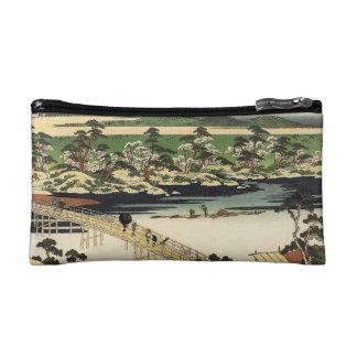 Vintage Japanese Watercolor Landscape Print Bag