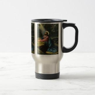 Vintage Jesus Christ Praying in Gethsemane Travel Mug