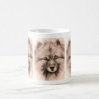 Vintage keeshond mug