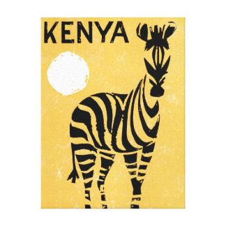 Vintage Kenya Africa Zebra Canvas Print
