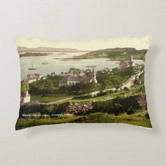 Vintage Killybegs village, Donegal Ireland. Decorative Cushion