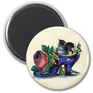 Vintage Kitten In Lady s Shoe Magnet