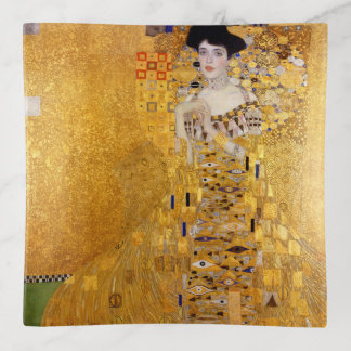 Vintage Klimt Golden Art Print Trinket Trays