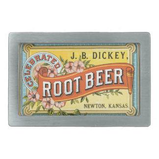 Vintage Label Root Beer Belt Buckle